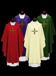 Gothic Chasuble with Embroidered Cross