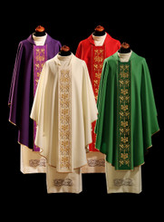 Gothic Chasuble with IHS Embroidery on Orphrey