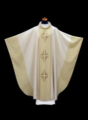 Hand-woven White Chasuble with Chalice Veil