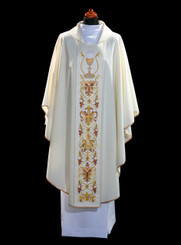 Gothic Chasuble with Eucharistic Embroidery