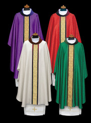 Gothic Chasuble with Gold and Velvet Orphrey