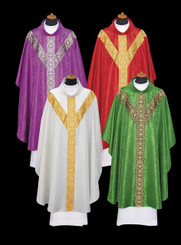 Gothic Chasuble with Gold or Silver Orphrey