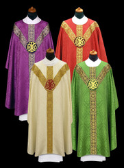 Gothic Chasuble with Embroidered Medallion