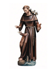 St Fransic with Deer Statue