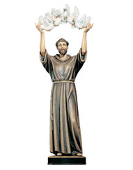 St Fransic with Doves Statue