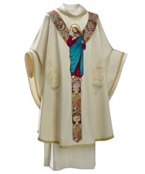 """Good Shepherd"" Gothic Chasuble in Moiré Fabric"