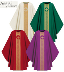 Assisi by Slabbinck Collection Chasuble with Gold Band & Cross