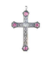 Pectoral Cross with Amethysts 3.5""