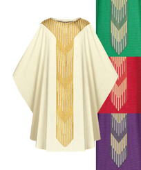 Gothic Chasuble in Cantate fabric with Gold Embroidery