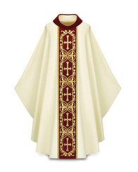 Gothic Chasuble with Handembroidered Cross Motif