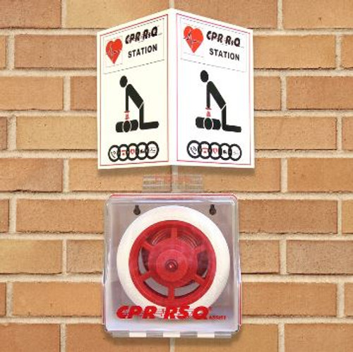 CPR RsQ Assist with Wall Cabinet and Sign