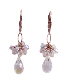 Swarovski Crystal and Freshwater Pearl Lace in Gold Filled Earrings