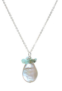 Sundrop Pearl Pendant Necklace