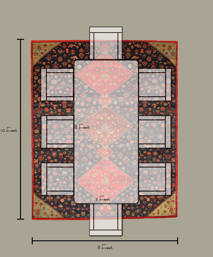 Size of rug for dining room how big should a dining room for Dining room rug size