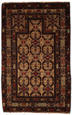 2'8 x 4'7 Afghan Baluch Prayer Rug