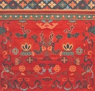 Traditional Tibetan design rug