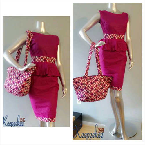 Pink Dress and Bag Set
