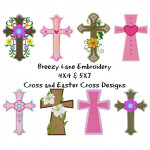 Cross Machine Embroidery Design Set 4X4 & 5X7