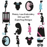 Expecting Pregnancy Machine Embroidery Designs 4X4 & 5X7