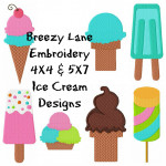 Ice Cream Machine Embroidery Design Set 4X4 & 5X7