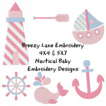 Nautical Machine Embroidery Design Set 4X4 & 5X7