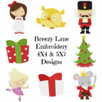 Nutcracker Machine Embroidery Design Set 4X4 & 5X7