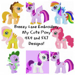 My Cute Pony Machine Embroidery Design Set 4X4 & 5X7