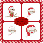 Sock Monkey Santa Set Machine Embroidery Design