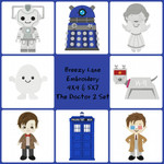 The Doctor Digital Machine Embroidery Design Set 2 4X4 & 5X7