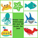 Under the Sea Digital Machine Embroidery Design Set 4X4 & 5X7