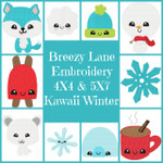 Kawaii Winter 4X4 & 5X7 Digital Machine Embroidery Design Set