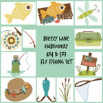 Fly Fishing 4X4 & 5X7 Machine Embroidery Design set