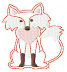 "FELTIE fox heart 1.5X1.5 & 2""X2"" MACHINE EMBROIDERY DESIGN"