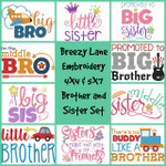 Brother and Sister 4X4 & 5X7 Machine Embroidery Designs