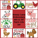 Farm Life 4X4 & 5X7 Machine Embroidery Design Set