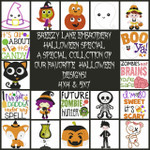 Halloween Special Filled and Applique Machine Embroidery Designs 4X4 & 5X7