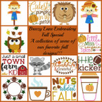Fall SPECIAL FILLED AND APPLIQUE MACHINE EMBROIDERY DESIGNS 4X4 & 5X7