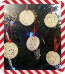 Color Me Christmas Ornaments 4X4 In the Hoop Project Machine Embroidery Designs