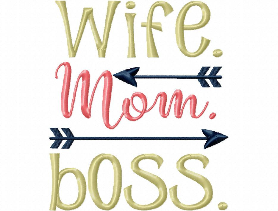 Wife Mom Boss Funny Mother S Day Fishing Word Art