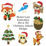 Christmas Animals 4X4 & 5X7 Machine Embroidery Design Set