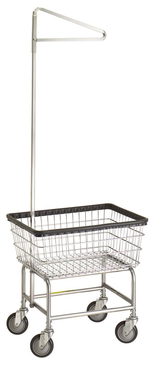 r u0026b  100e  laundry cart w  single pole hanger