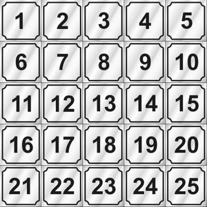 Vend-Rite Washer ID #'s 1-25