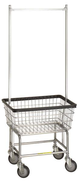 r u0026b  100e  laundry cart w  double pole hanger