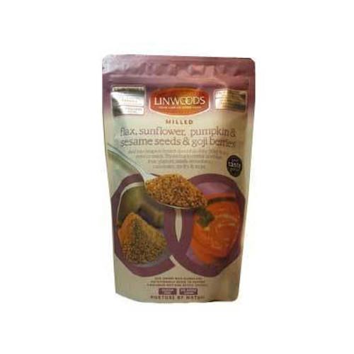 Milled Flax, Sunflower, Pumpkin & Sesame Seeds & Goji Berries 425g