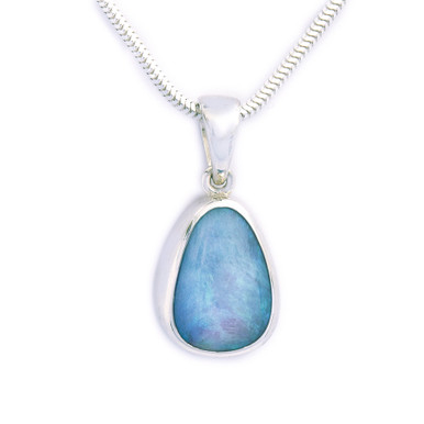 Crystal opal in silver pendant- Lost Sea Opals