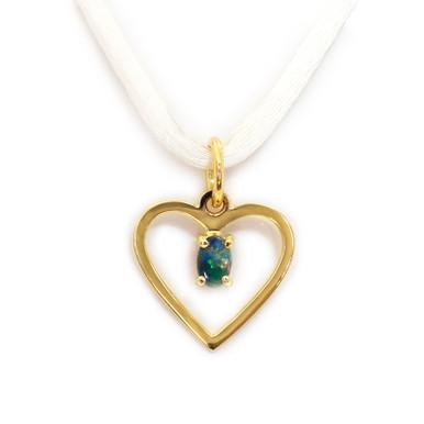 Lost Sea Opals heart shaped pendant