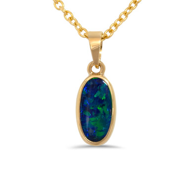 Black opal pendant - Lost Sea Opals