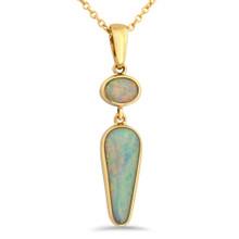 Lost Sea Opals - light opal pendant