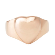 Lost Sea Jewels - puffed heart ring rose gold