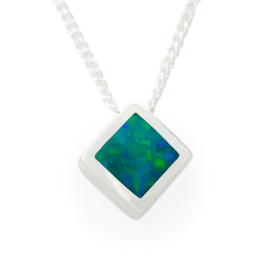 extremely flashopal pendant bright rectangle big long inlay pendants opal gold
